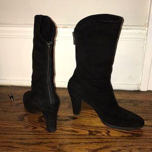 Aquatalia black, suede boots, size 6